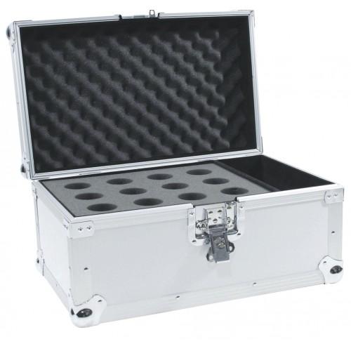 Case na 12 mikrofonów srebrny