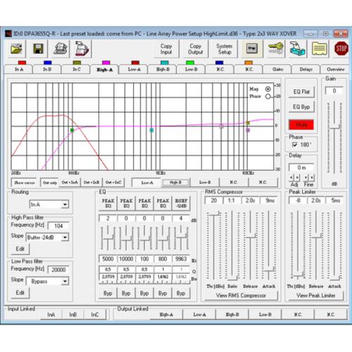 DPA 360A 3-in,6out procesor systemu nagłośnienia