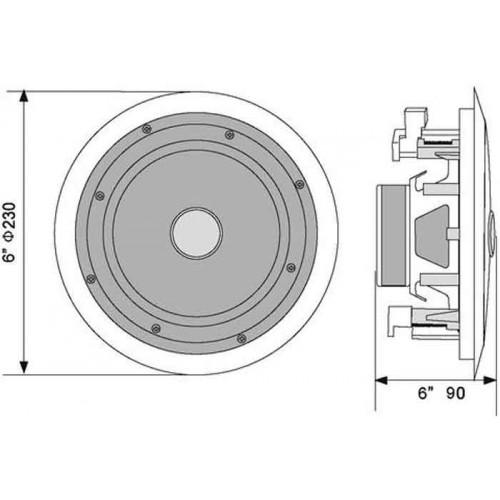 CST-6 2-drożny sufitowy głośnik