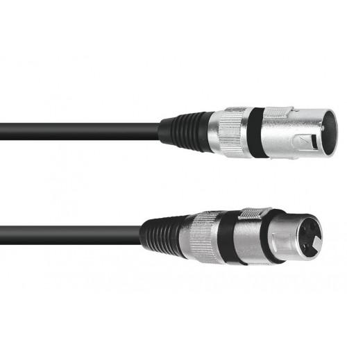XLR kabel 3pin 0.5m bk