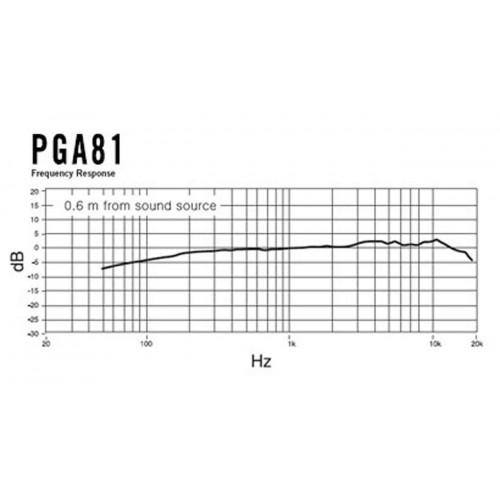 Shure PGA81 Kardioidalny mikrofon pojemnościowy do instrumentów