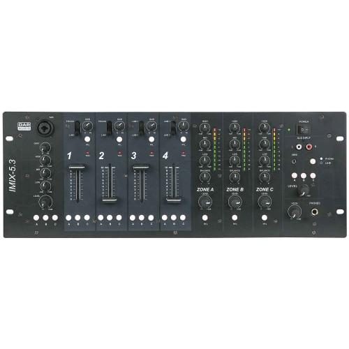 DAP-Audio IMIX-5.3 5 kanałowy 3 strefowy mikser