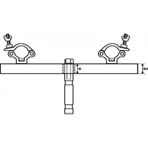 EUROLITE TAH-52 z Pin TV adapter do kratownic
