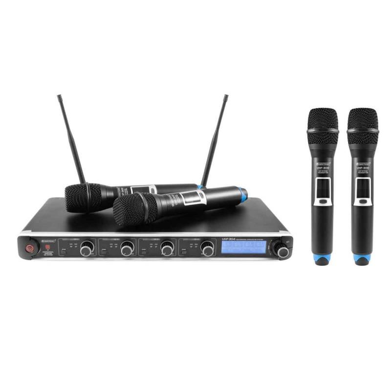 OMNITRONIC UHF-304 4-kanałowy System 823-832/863-865MHz