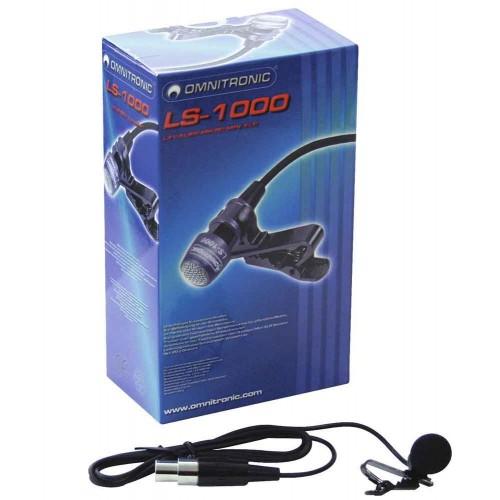 LS-1000 XLR Lavalier Mikrofon do klapy