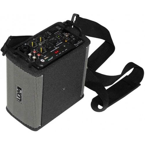 LDM Lektor-200  system nagłaśniający zasilany wbudowanym akumulatorem.